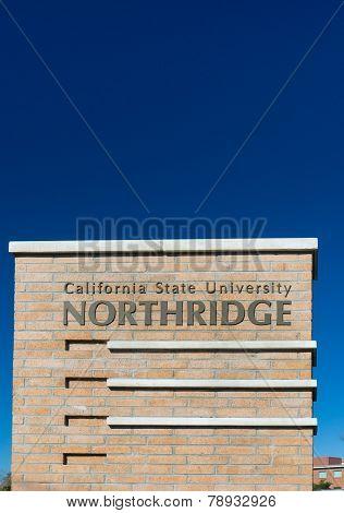 California State University Northridge Entrance Sign