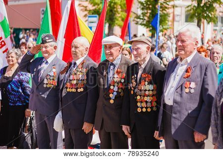 Unidentified veterans during the celebration of Victory Day. GOM