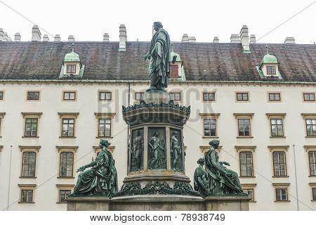 Emperor Franz I, Hofburg Palace Courtyard - Vienna, Austria