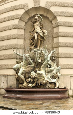Michaelerplatz Fountain - Hofburg Quarter, Vienna