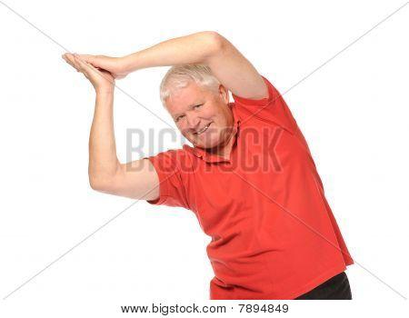 Senior Retired Man Stretching