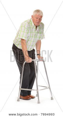 Disabled Casual Mature Man