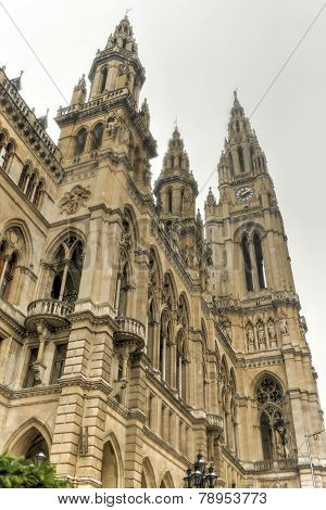 Rathaus (town Hall) Building In Vienna