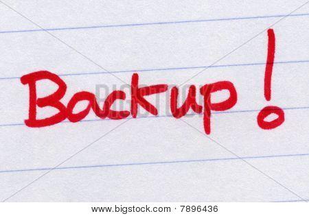 Backup, Written In Red Ink.