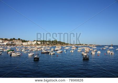 Boats In The Bay Of Cadaques