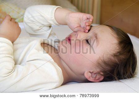 Child Sleeping Or Waking