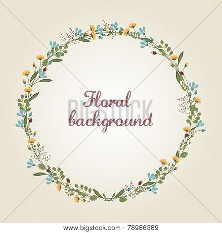 Flower Wreath Illustration