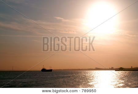 Ship on hoizon