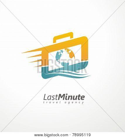 Travel agency creative symbol concept