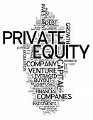 Word Cloud with Private Equity related tags poster
