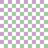 Seamless checkered pattern with complementary colors lilac, light green and white poster