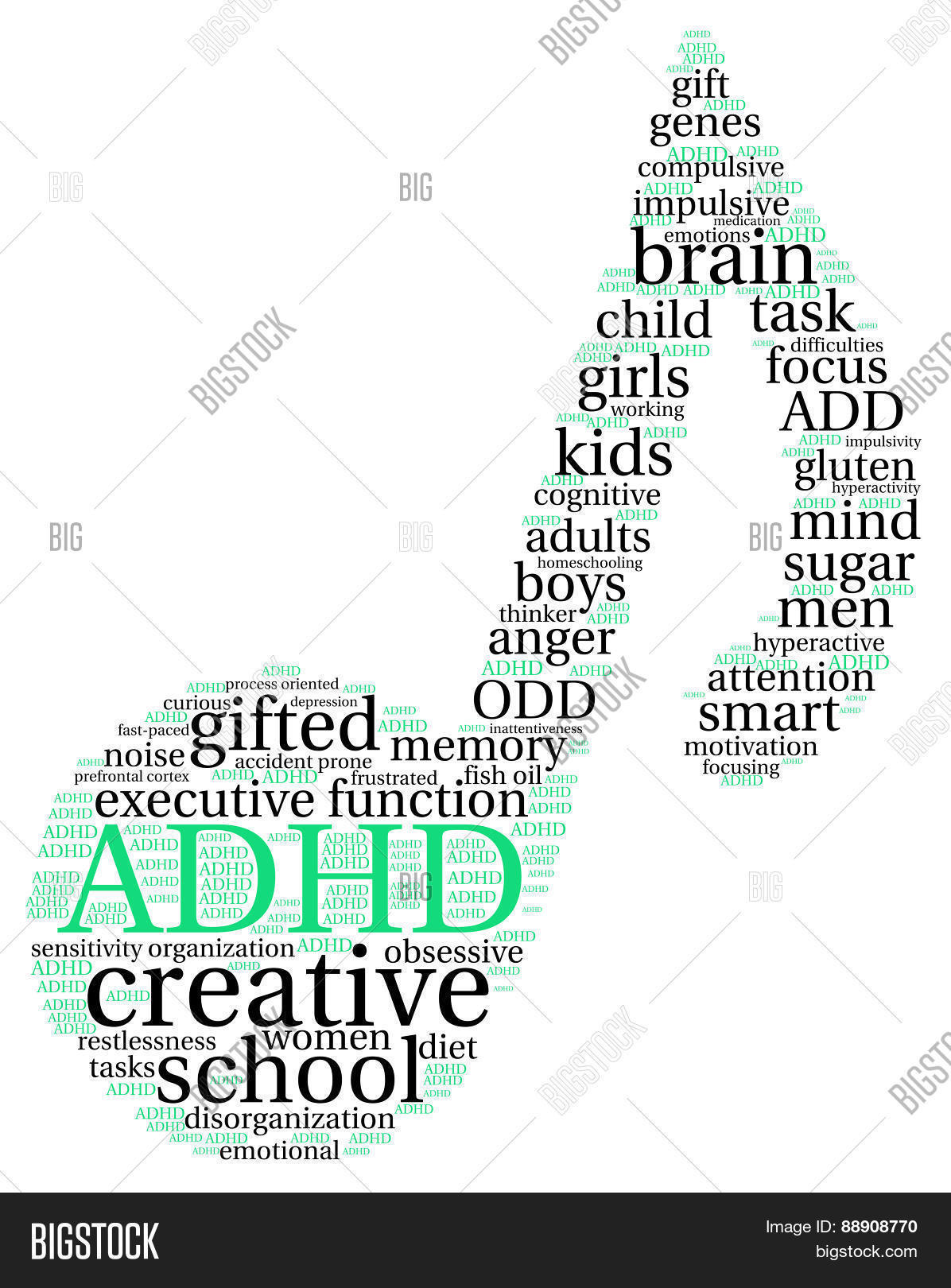 Adhd Musical Note Image Photo Free Trial Bigstock