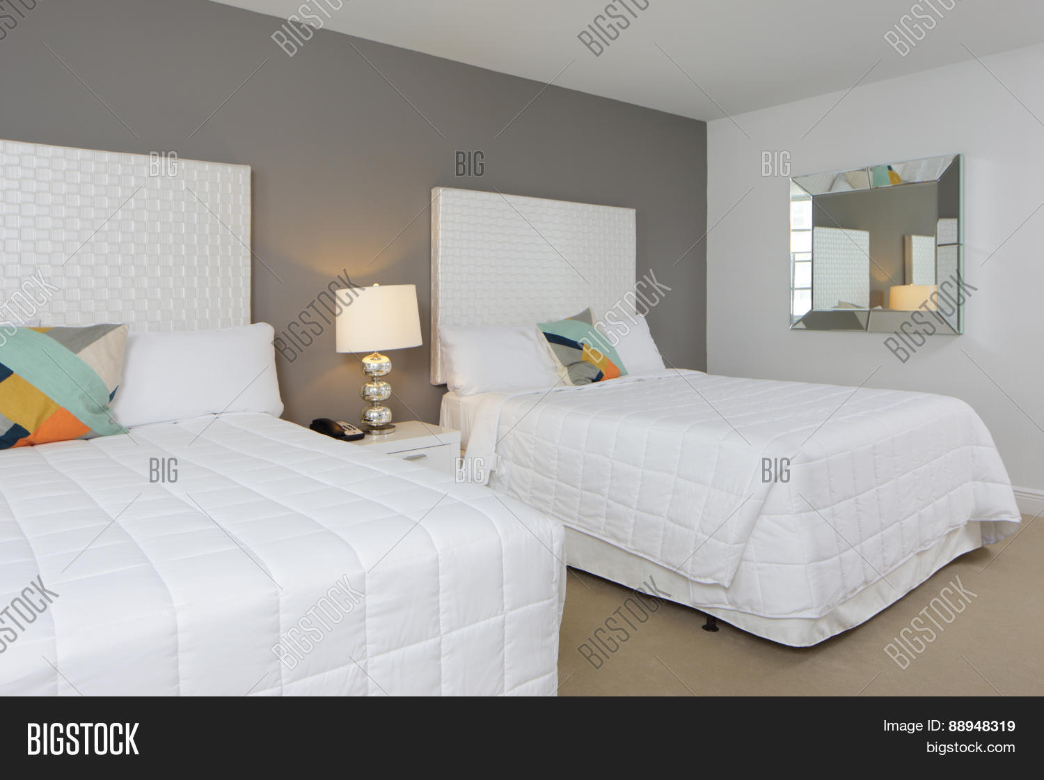 Modern Bedroom Two Image Photo Free Trial Bigstock