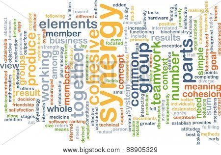 Background text pattern concept wordcloud illustration of group synergy