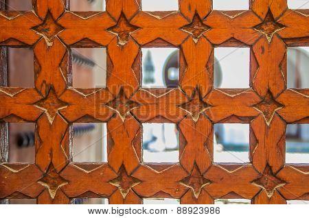 Cedar Wood Carved Moroccan Door