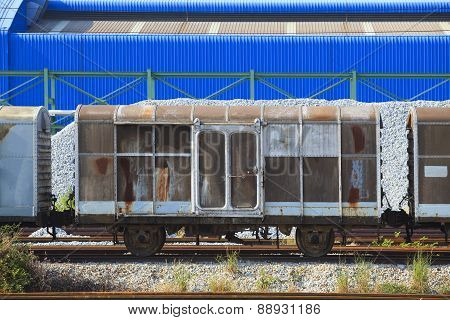Railroads Container Truck Parking In Heavy Indsutry Estate Use For Land Transport Industrial Scene