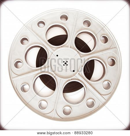 Theater Cinema Movie Reel For 35Mm Film Vintage Color Effect