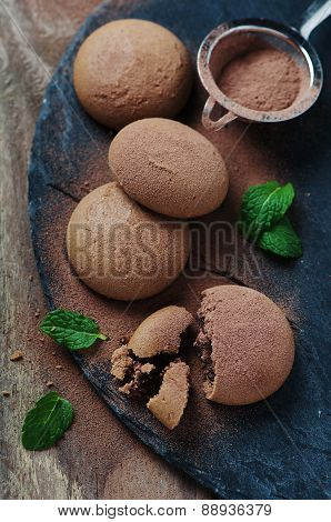 Homemade Cookie With Chocolate
