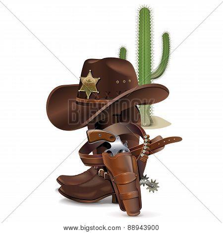 Vector Cowboy Concept