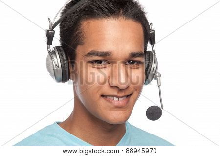 Young Man With Headset.