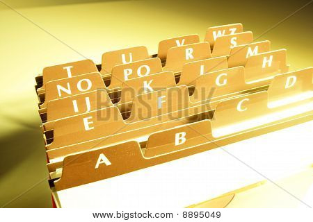 Business card index