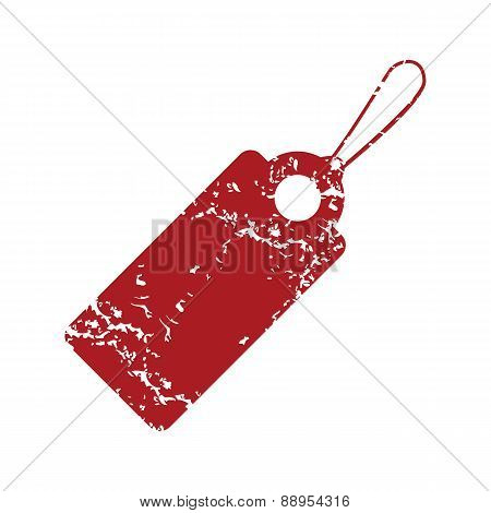 Red grunge price tag logo