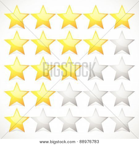 5 star star rating element. Vector graphics. poster