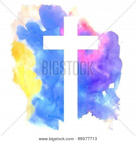 colorful abstract background with cross