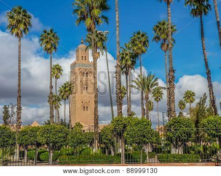 Koutoubia Mosque In Marrakesh Morocco
