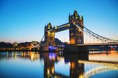 Tower bridge in London Great Britain in the morning poster