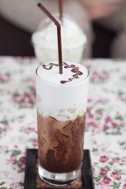 Iced Mocha With Milk Micro Foam
