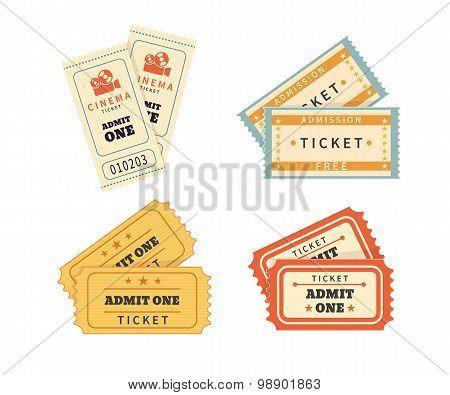 Retro double  tickets set