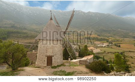 French Grain Windmill