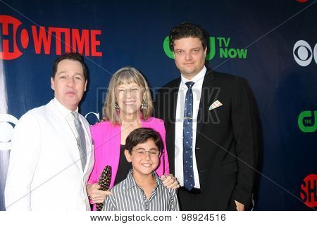 LOS ANGELES - AUG 10:  French Stewart, Mimi Kennedy, Blake Garrett Rosenthal, Matt Jones at the CBS TCA Summer 2015 Party at the Pacific Design Center on August 10, 2015 in West Hollywood, CA