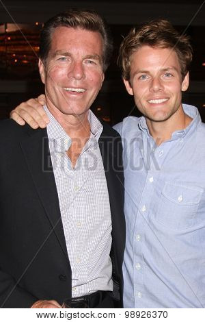 LOS ANGELES - AUG 15:  Peter Bergman, Lachlan Buchanan at the