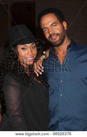 LOS ANGELES - AUG 15:  Angell Conwell, Kristoff St. John at the
