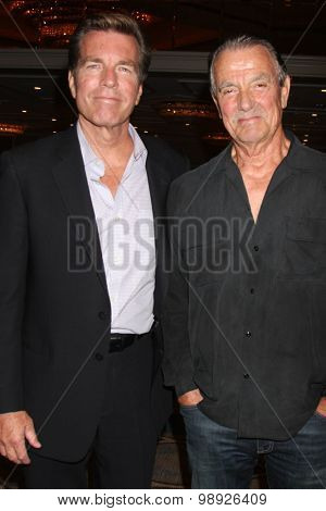 LOS ANGELES - AUG 15:  Peter Bergman, Eric Braeden at the