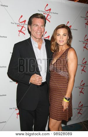 LOS ANGELES - AUG 15:  Peter Bergman, Gina Tognoni at the