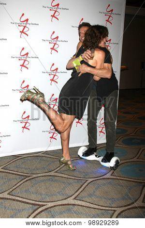 LOS ANGELES - AUG 15:  Stacy Haiduk, Christian LeBlanc at the