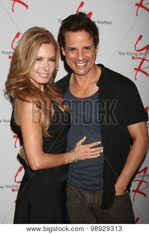 LOS ANGELES - AUG 15:  Tracey E. Bregman, Christian LeBLanc at the