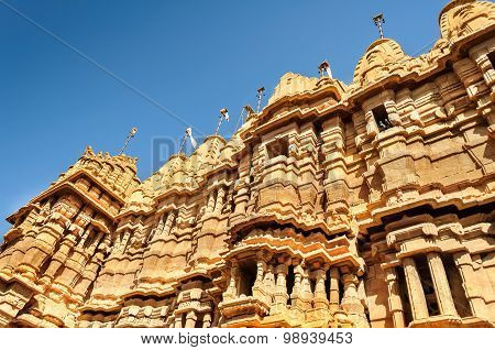 Hindu Temple Inside Golden Fort Of Jaisalmer, Rajasthan