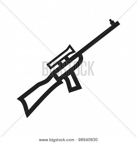 Sniper, military, rifle icon vector image. Can also be used for military. Suitable for use on web apps, mobile apps and print media. poster