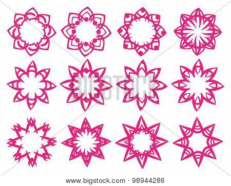 Floral Pattern Motifs Vector Design Elements
