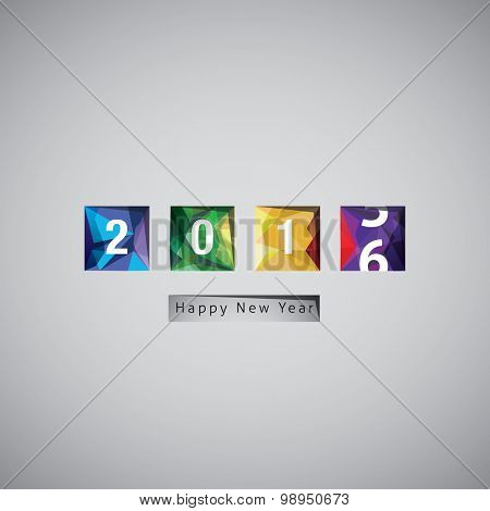 Happy New Year 2016 vector celebration background.