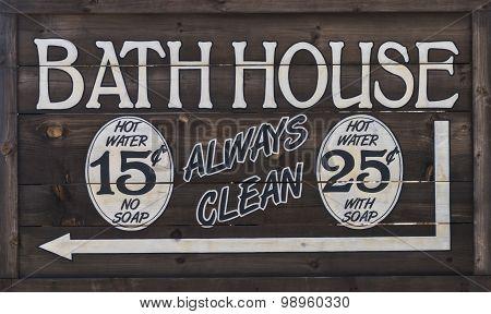 Western Bathhouse Sign