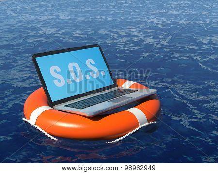 Pc Software Rescue Concept Illustration.