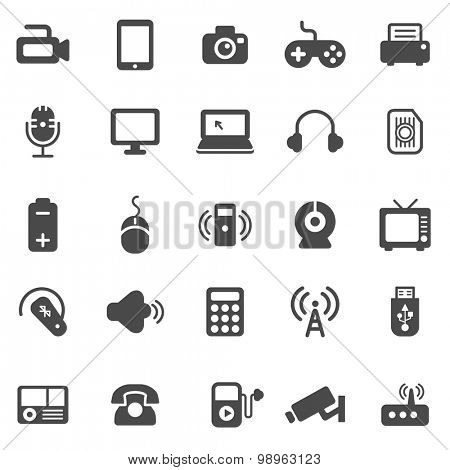 Device Black Icons Set.vector