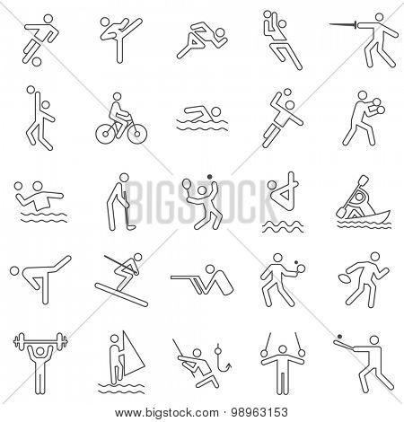 Sport Line Icons Set.vector