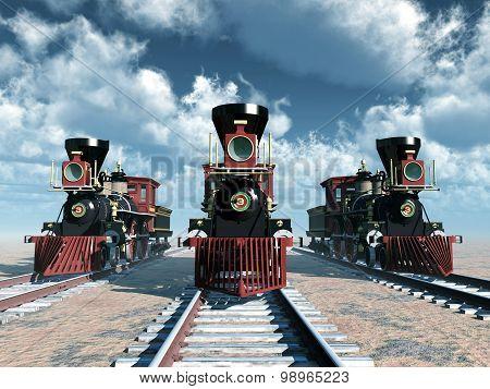 Old American Steam Locomotives