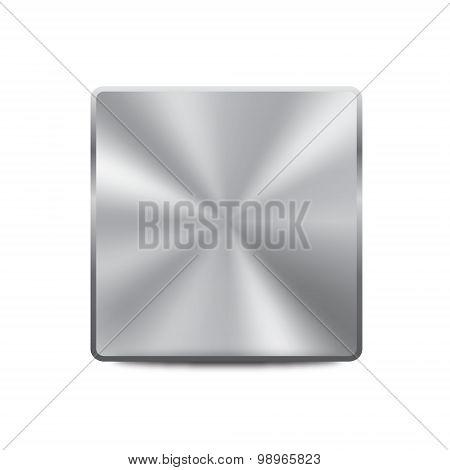 Blank metallic button